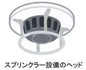 スプリンクラー設備のヘッド